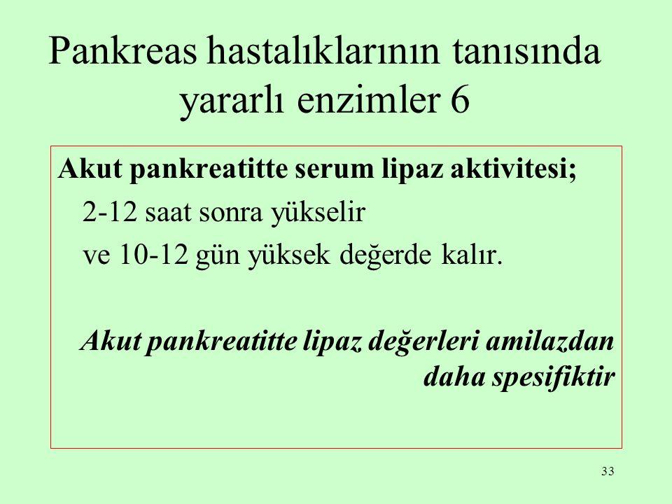 Pankreas hastalıklarının tanısında yararlı enzimler 6