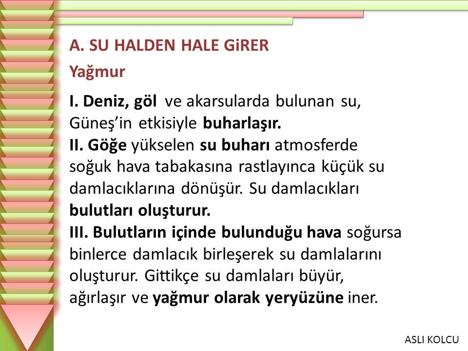 A. SU HALDEN HALE GiRER Yağmur.