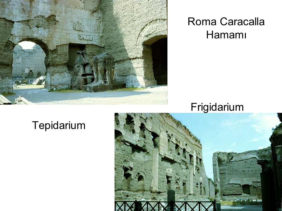Roma Caracalla Hamamı Frigidarium Tepidarium