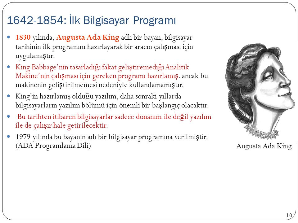 1642-1854: İlk Bilgisayar Programı