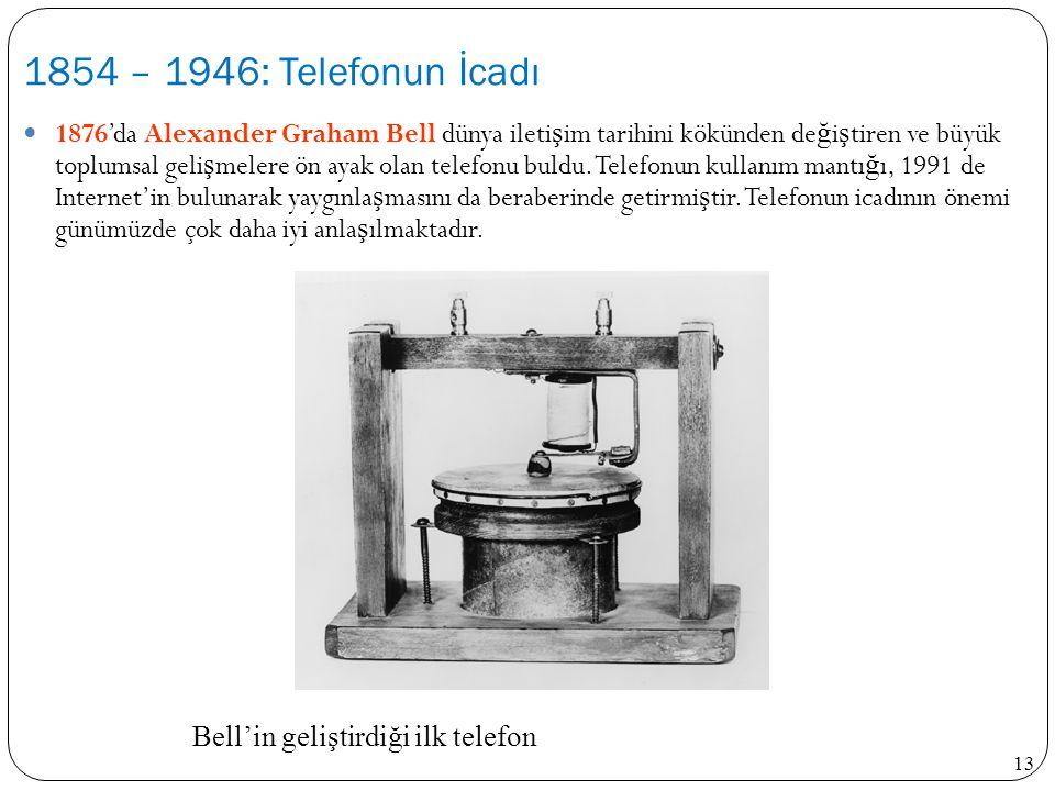 Bell'in geliştirdiği ilk telefon