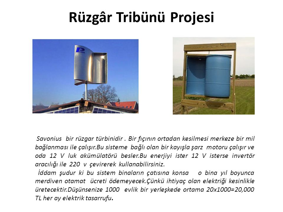 Rüzgâr Tribünü Projesi