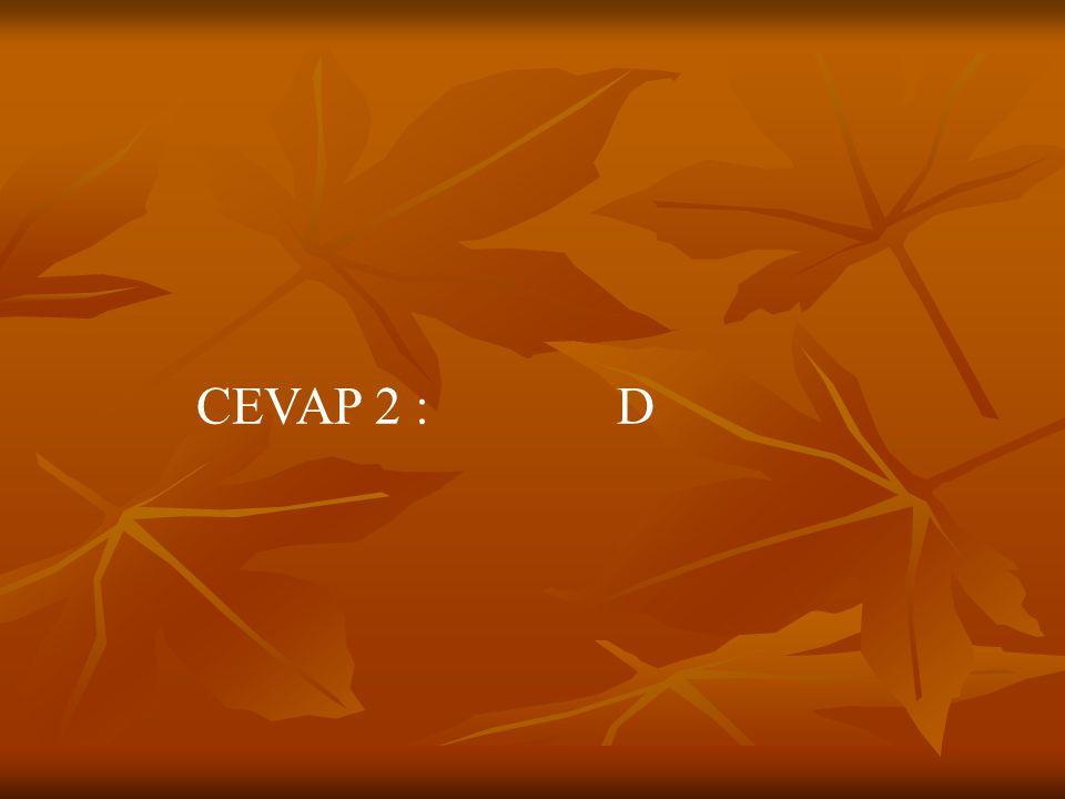 CEVAP 2 : D