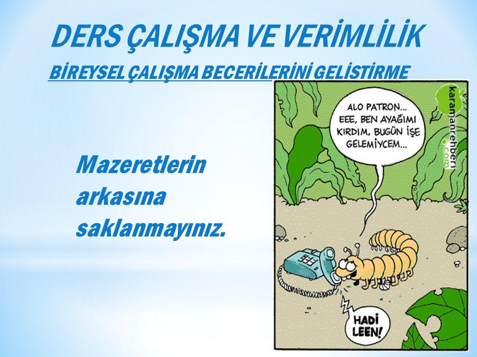 DERS ÇALIŞMA VE VERİMLİLİK