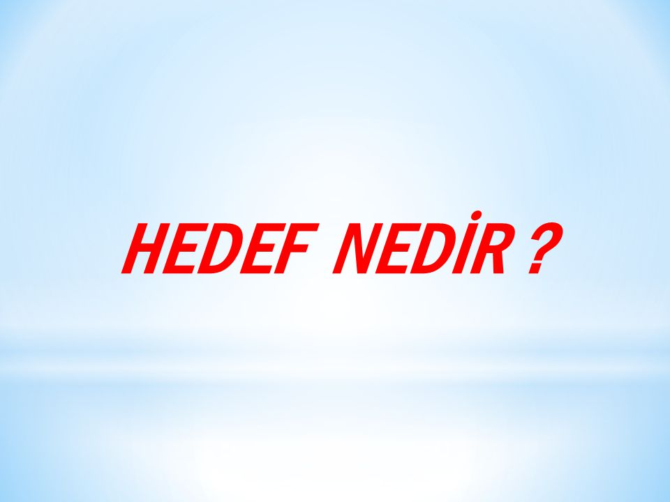 HEDEF NEDİR