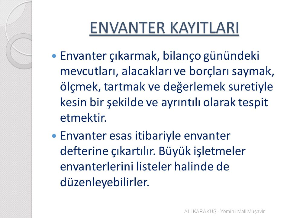 ENVANTER KAYITLARI