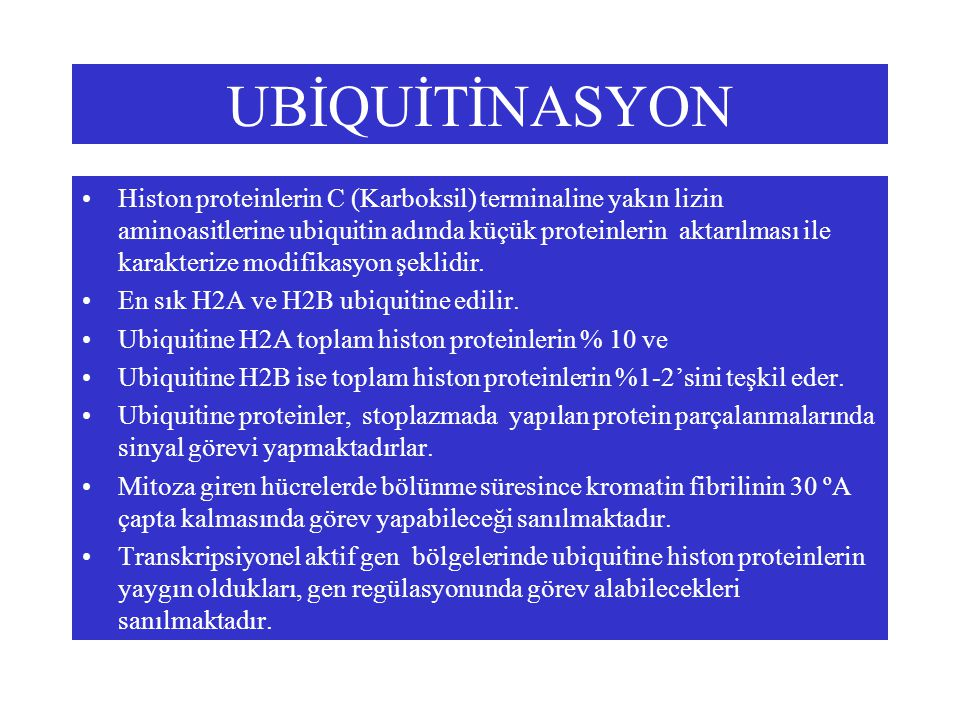 UBİQUİTİNASYON