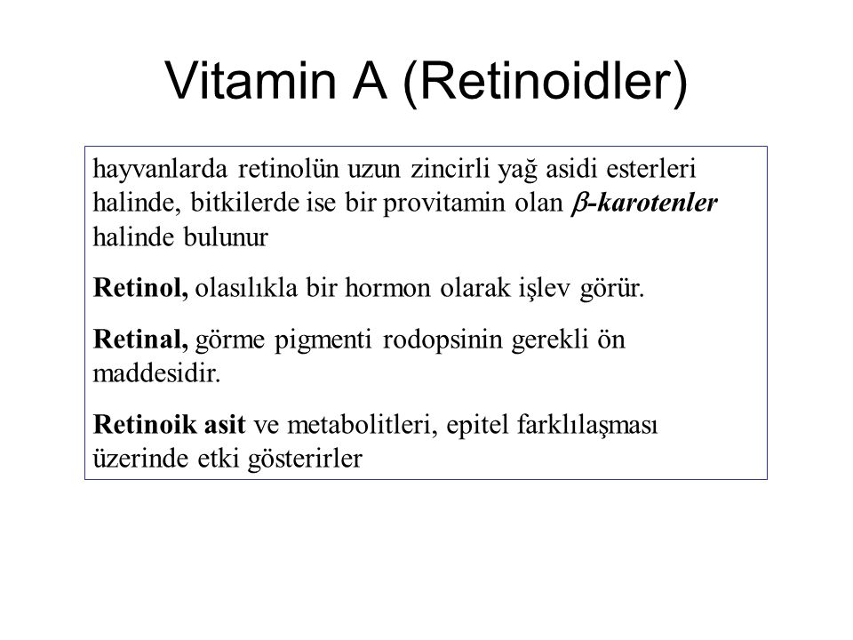 Vitamin A (Retinoidler)