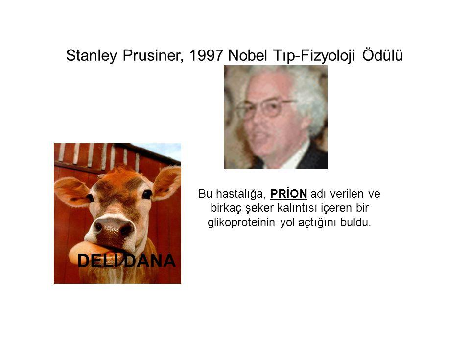 DELİ DANA Stanley Prusiner, 1997 Nobel Tıp-Fizyoloji Ödülü