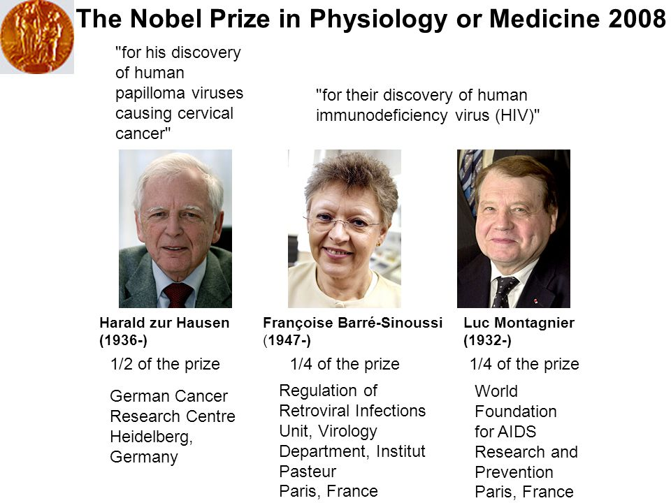 The Nobel Prize in Physiology or Medicine 2008