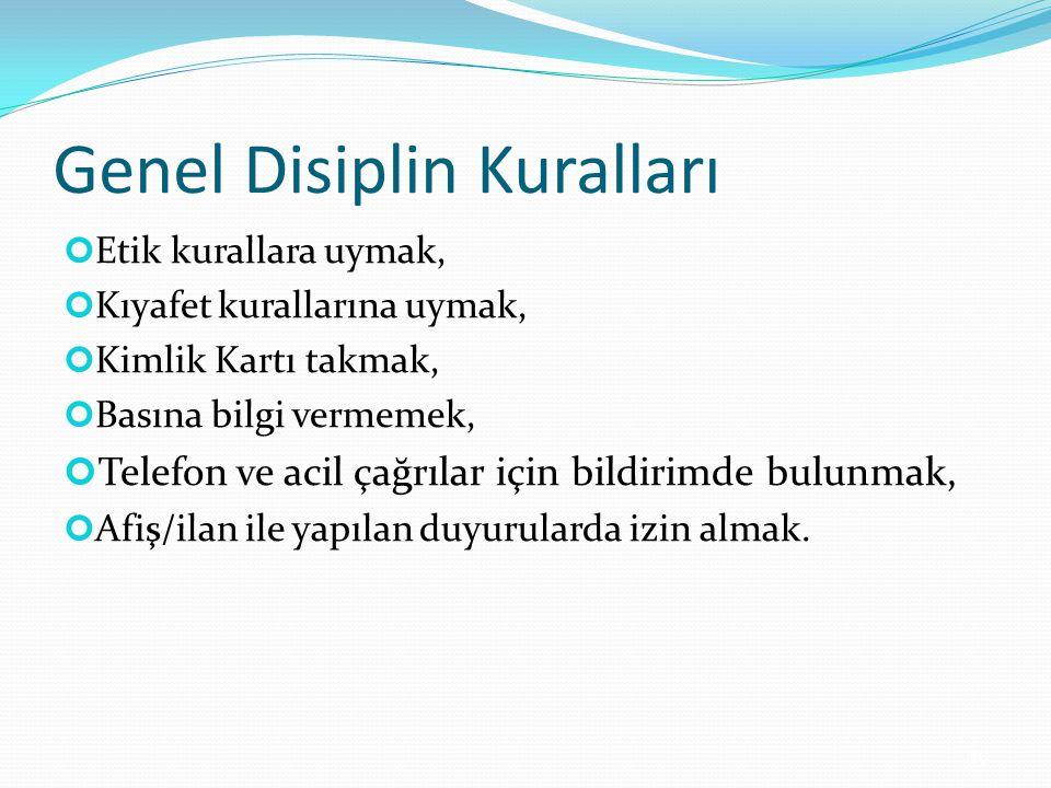 Genel Disiplin Kuralları