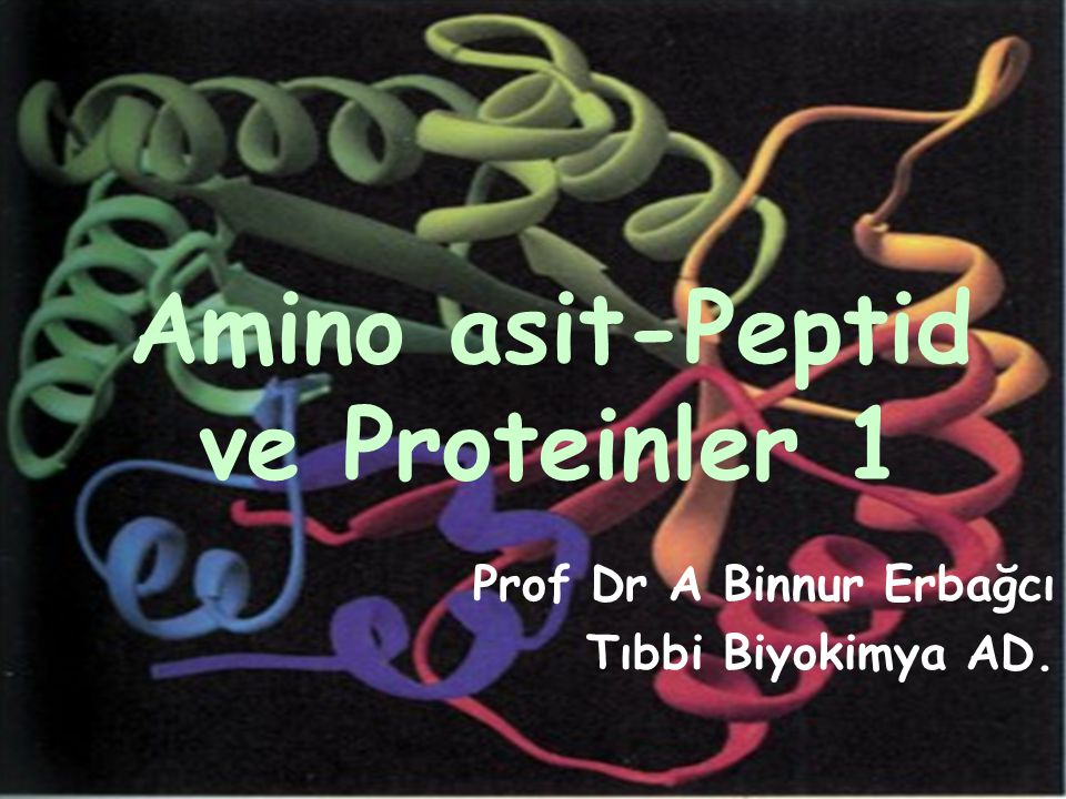 Amino asit-Peptid ve Proteinler 1