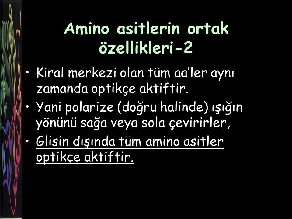 Amino asitlerin ortak özellikleri-2