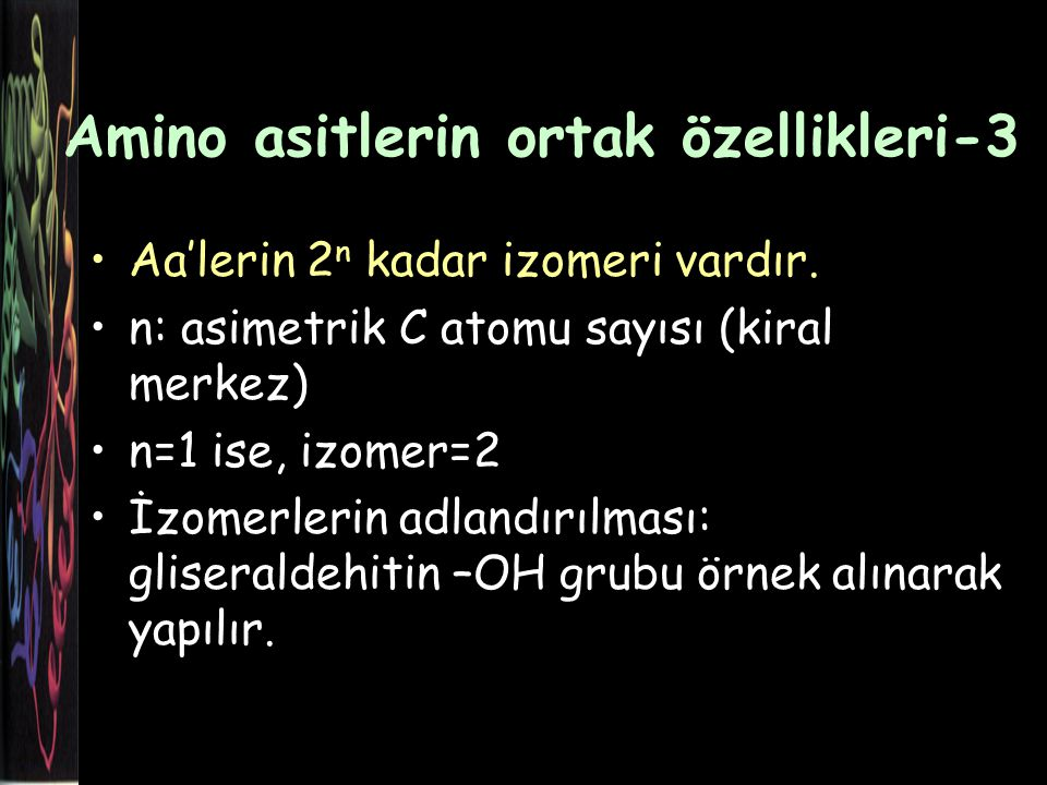 Amino asitlerin ortak özellikleri-3