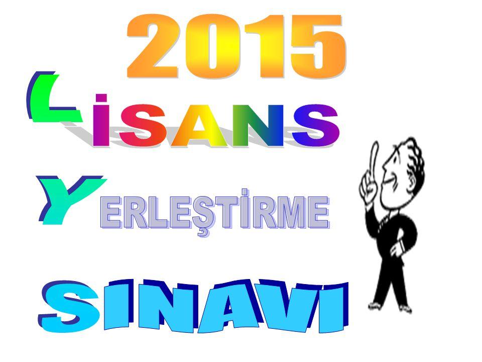 2015 İSANS LYS ERLEŞTİRME INAVI