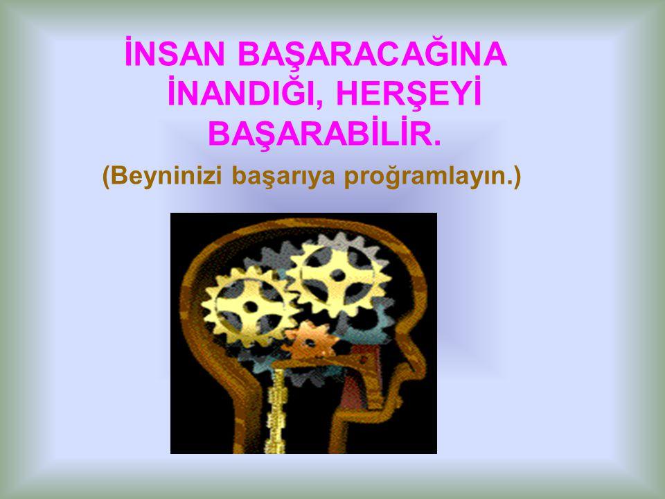 (Beyninizi başarıya proğramlayın.)