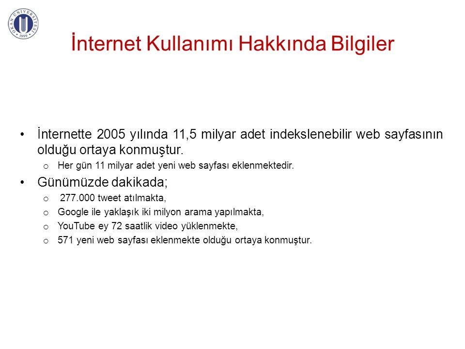 İnternet Kullanımı Hakkında Bilgiler