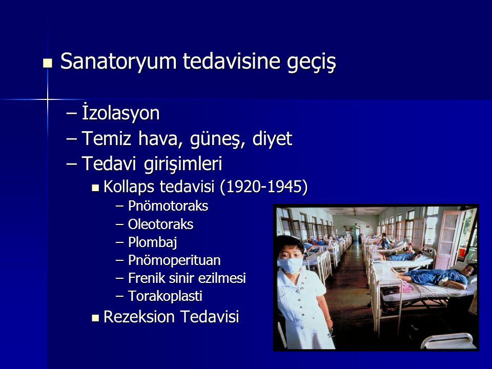 Sanatoryum tedavisine geçiş