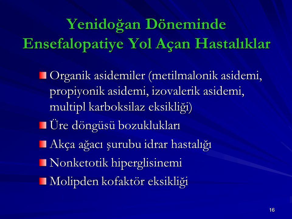 Yenidoğan Döneminde Ensefalopatiye Yol Açan Hastalıklar