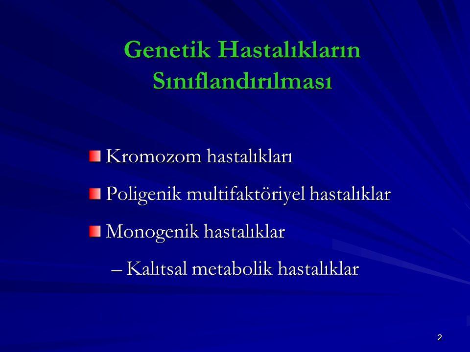 Genetik Hastalıkların Sınıflandırılması