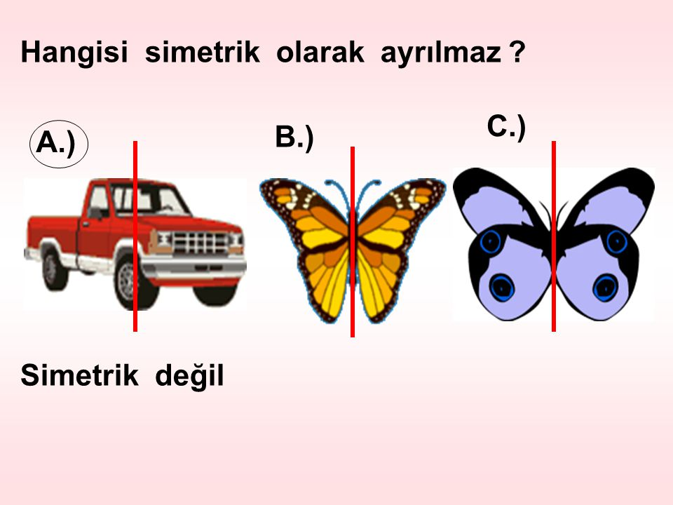 Hangisi simetrik olarak ayrılmaz