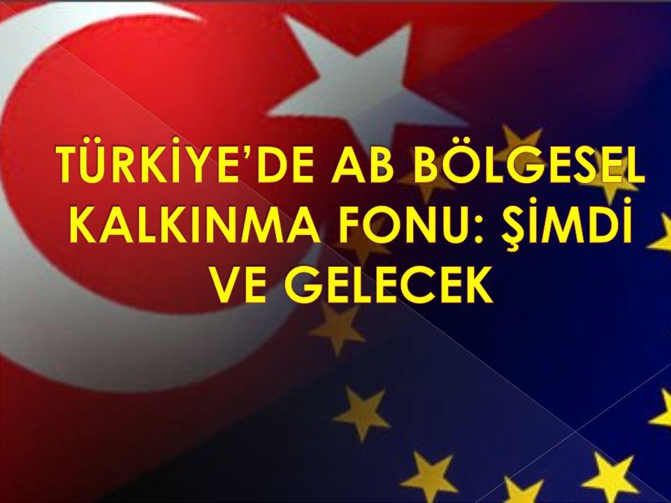 TÜRKİYE'DE AB BÖLGESEL KALKINMA FONU: ŞİMDİ VE GELECEK