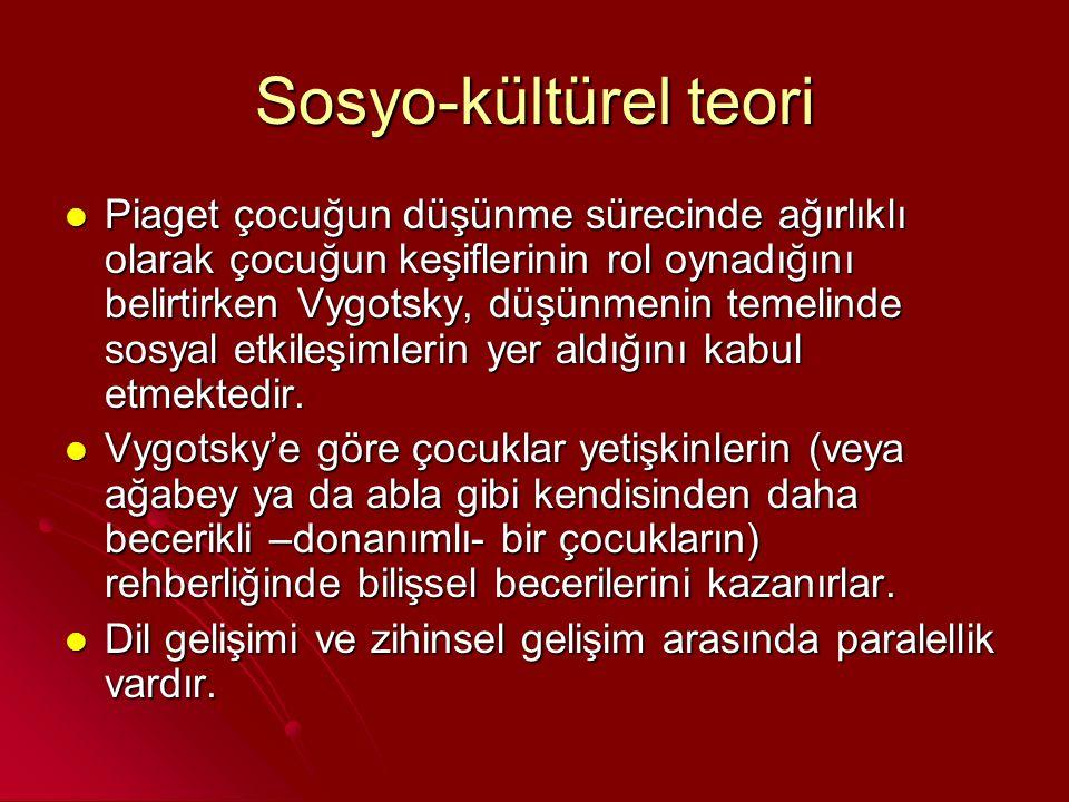Sosyo-kültürel teori