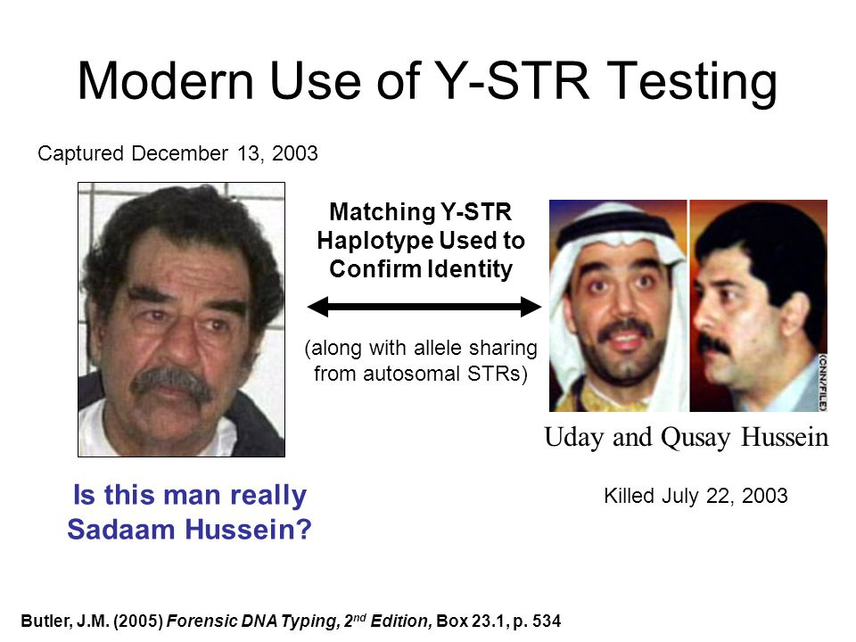 Modern Use of Y-STR Testing