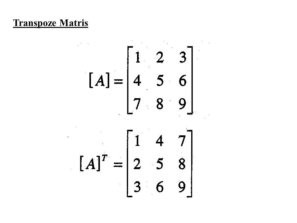 Transpoze Matris