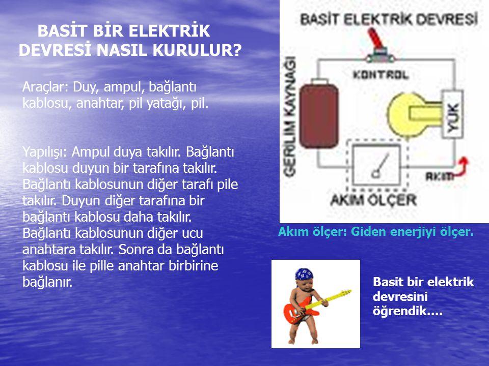 BASİT BİR ELEKTRİK DEVRESİ NASIL KURULUR