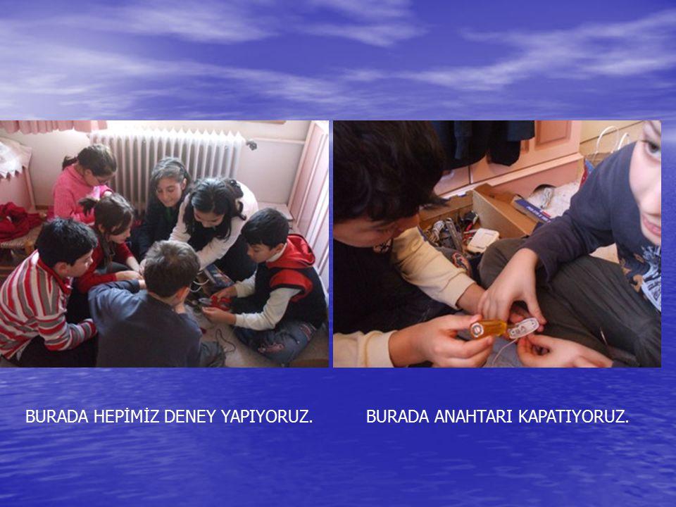 BURADA HEPİMİZ DENEY YAPIYORUZ.