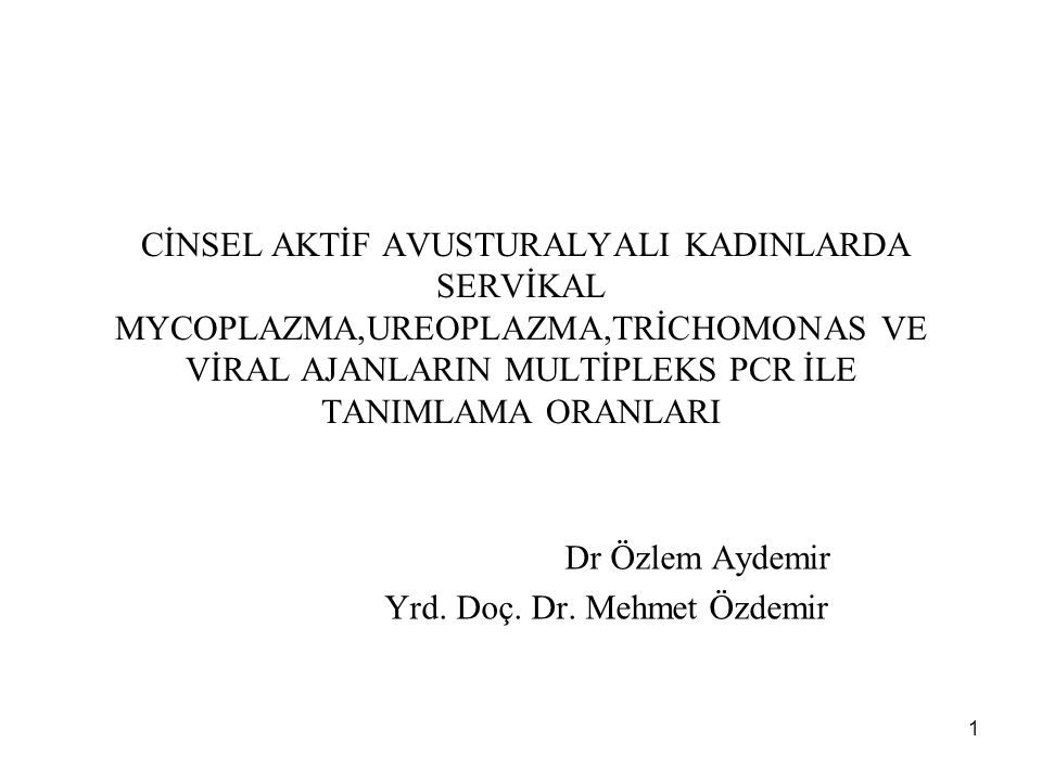 Dr Özlem Aydemir Yrd. Doç. Dr. Mehmet Özdemir