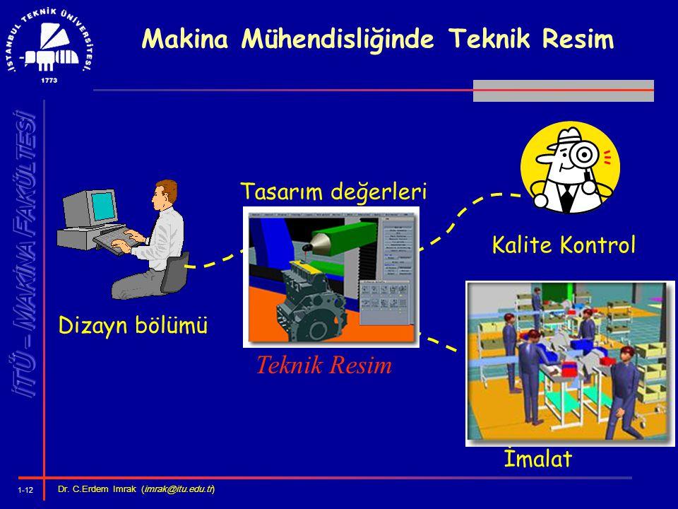 Makina Mühendisliğinde Teknik Resim