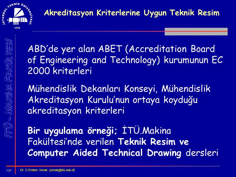 Akreditasyon Kriterlerine Uygun Teknik Resim