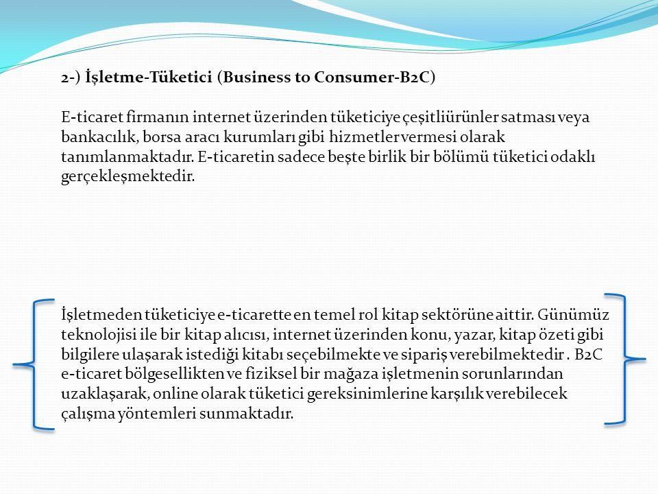 2-) İşletme-Tüketici (Business to Consumer-B2C)