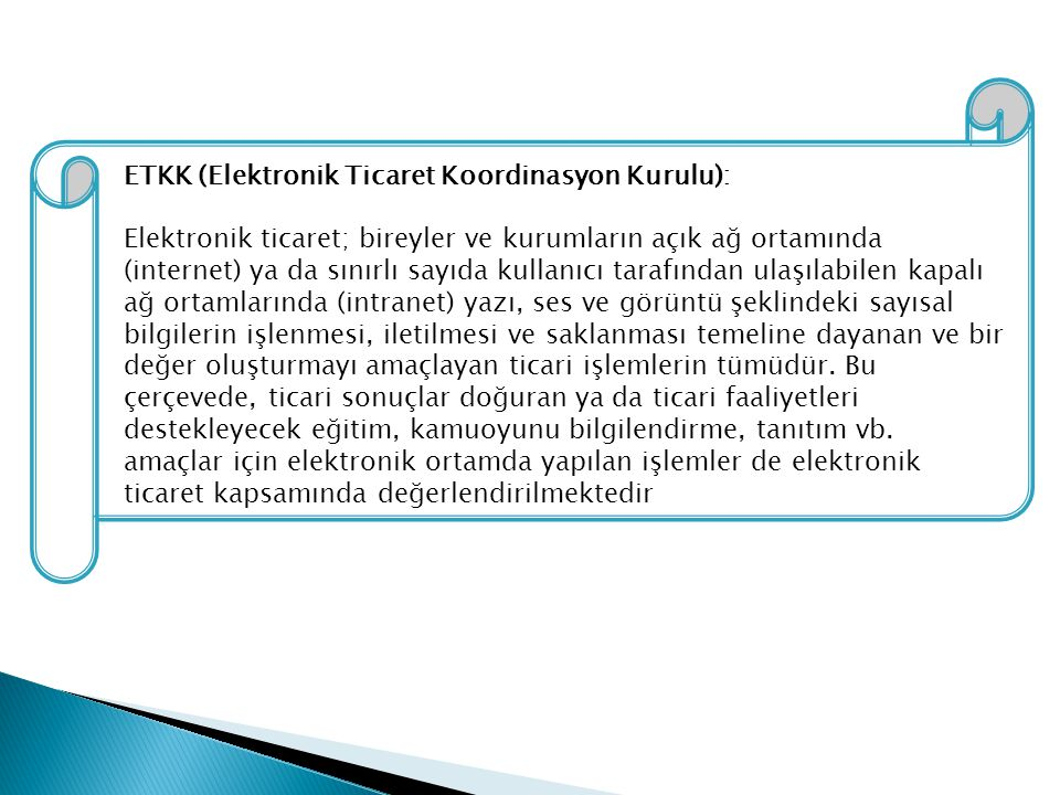 ETKK (Elektronik Ticaret Koordinasyon Kurulu):