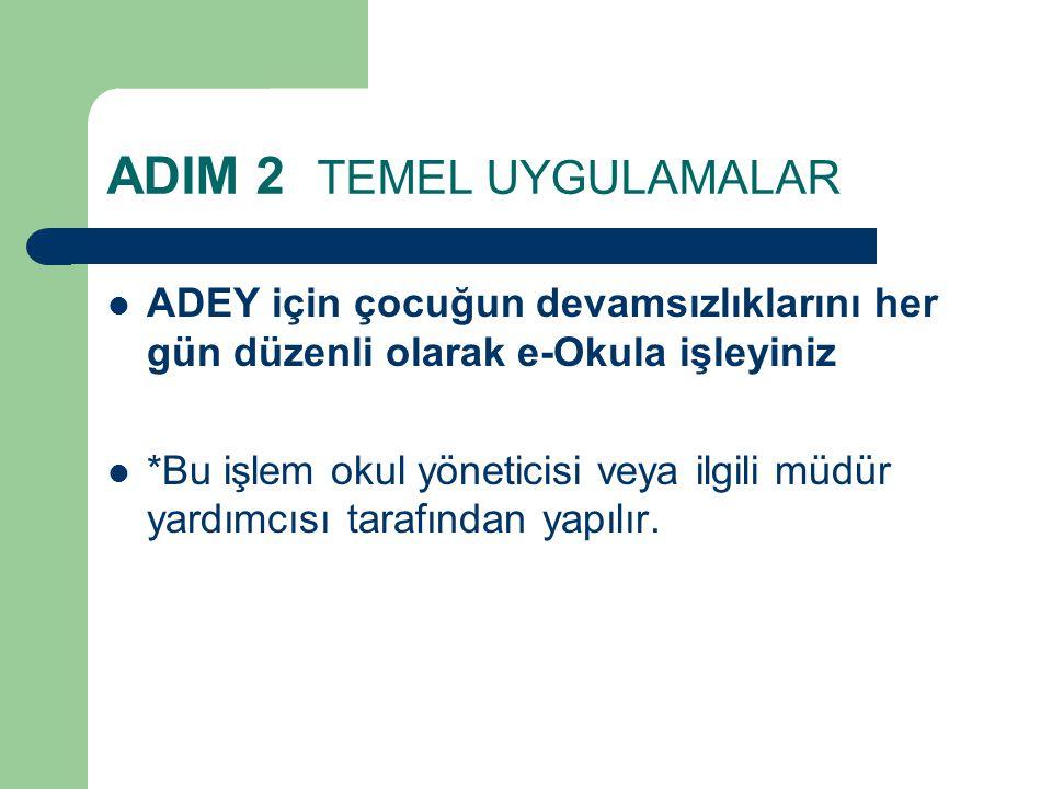 ADIM 2 TEMEL UYGULAMALAR