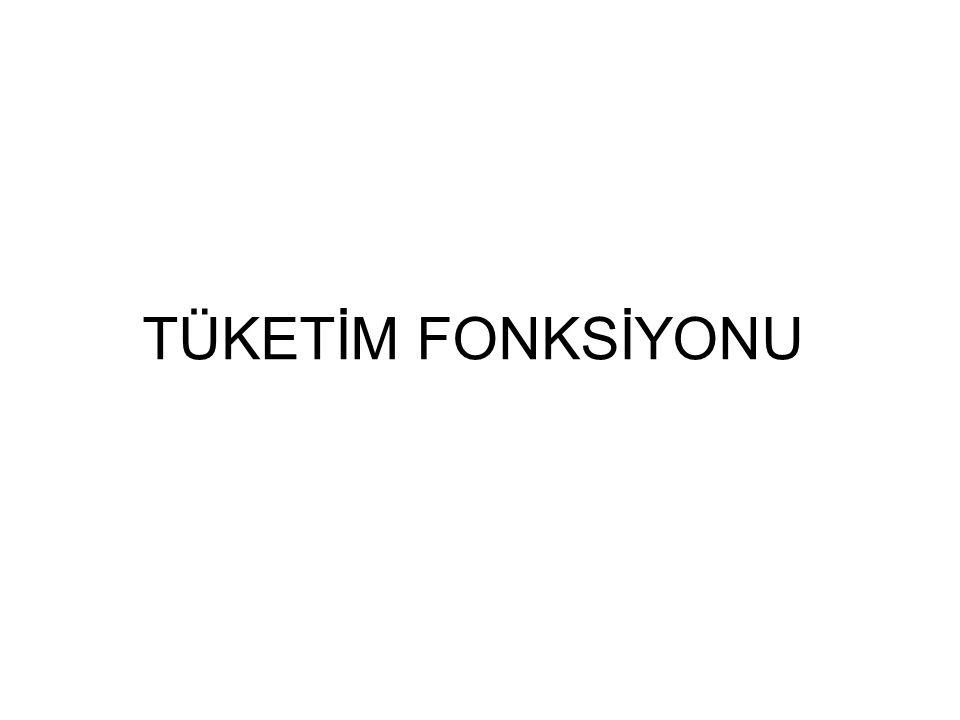 TÜKETİM FONKSİYONU
