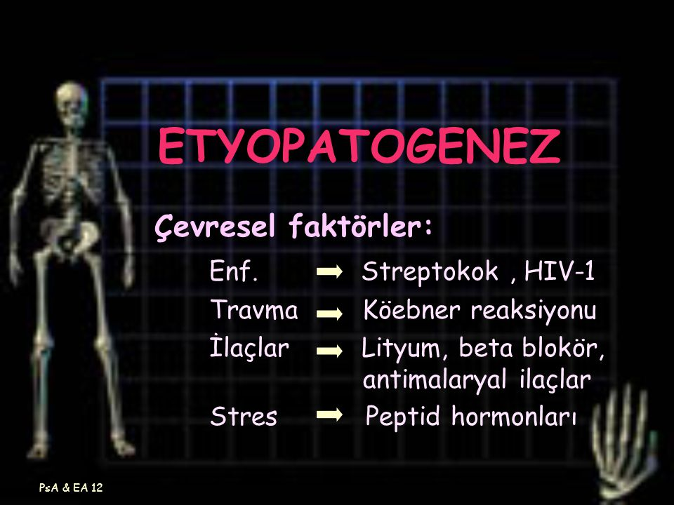 ETYOPATOGENEZ Çevresel faktörler: Enf. Streptokok , HIV-1
