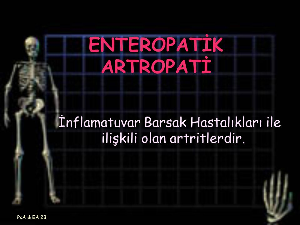 ENTEROPATİK ARTROPATİ