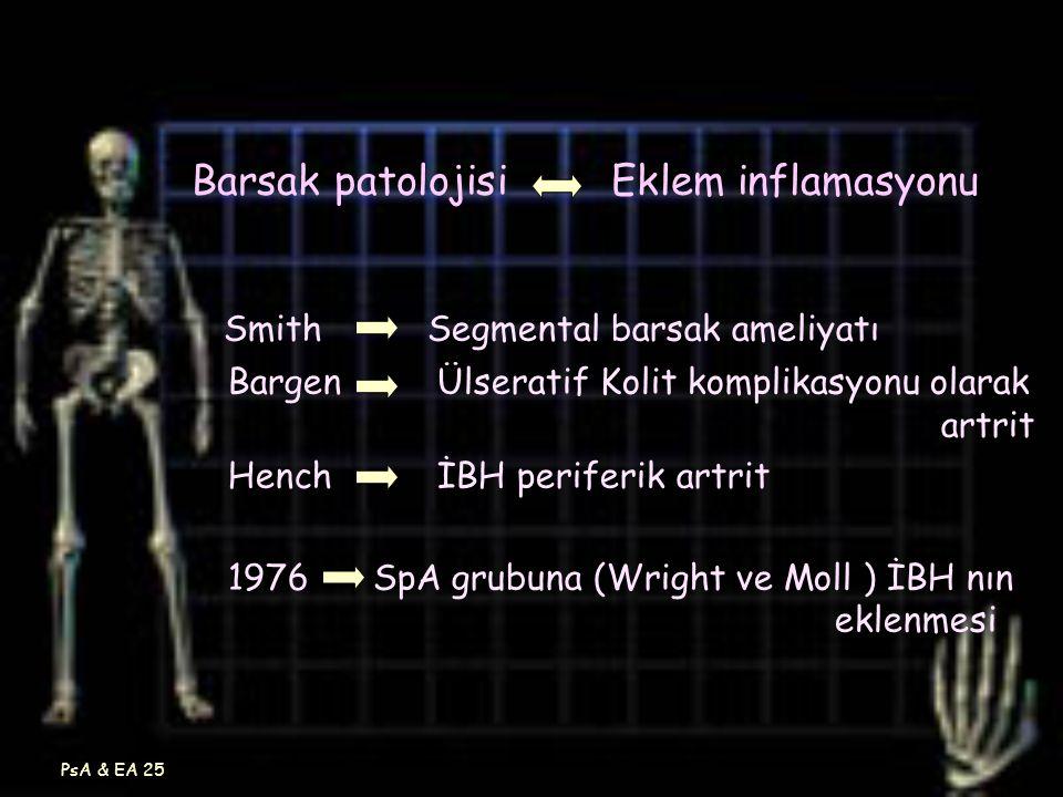 Barsak patolojisi Eklem inflamasyonu