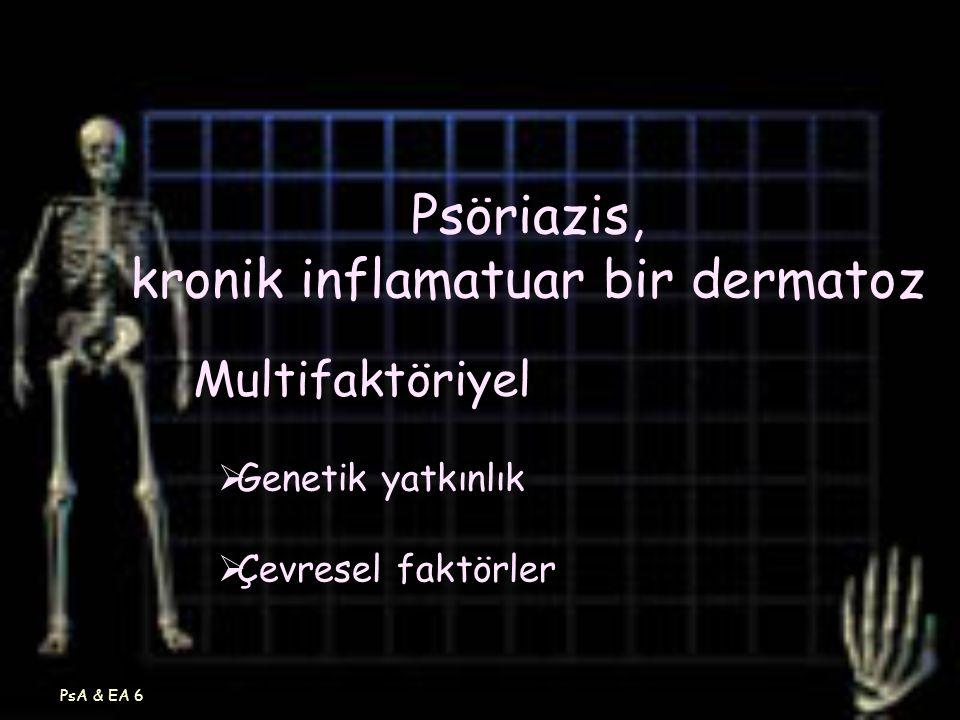 Psöriazis, kronik inflamatuar bir dermatoz
