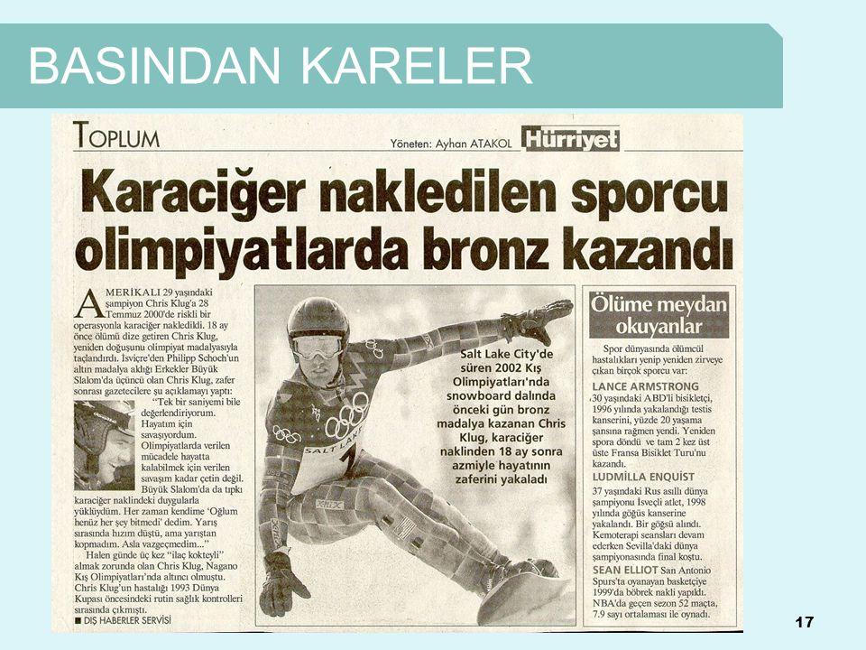 BASINDAN KARELER