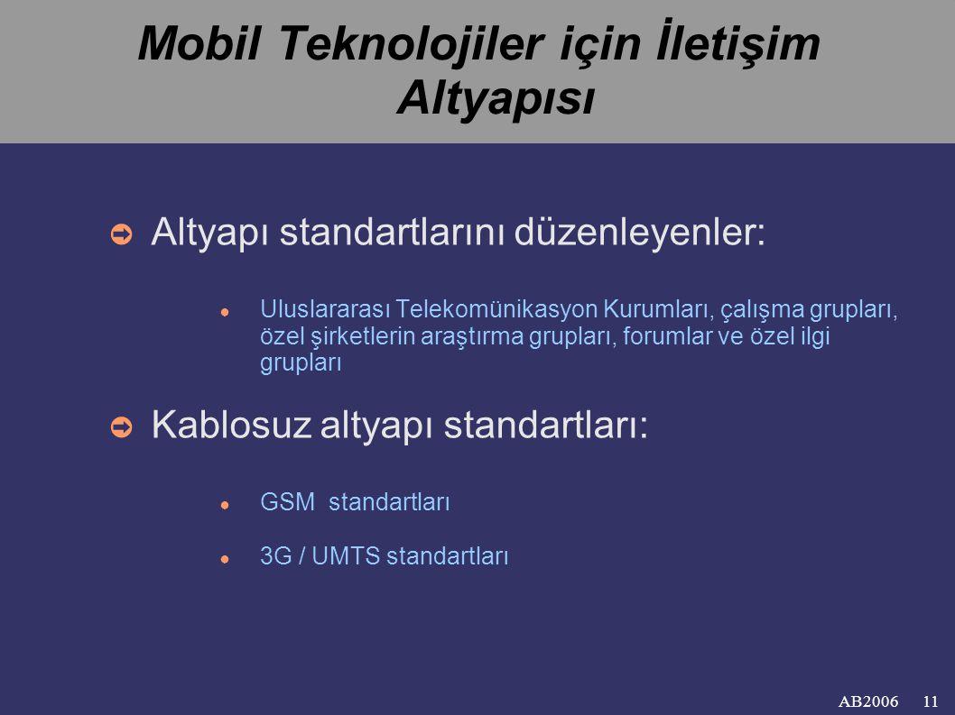 Mobil Teknolojiler için İletişim Altyapısı
