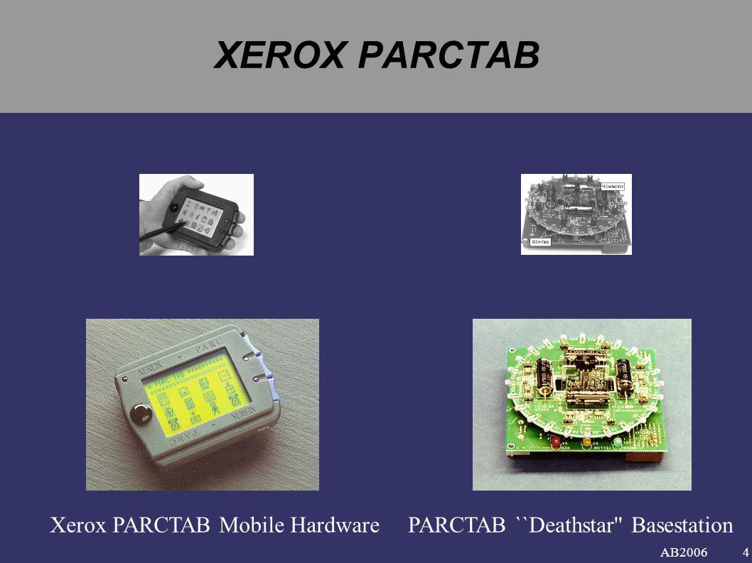 XEROX PARCTAB Xerox PARCTAB Mobile Hardware