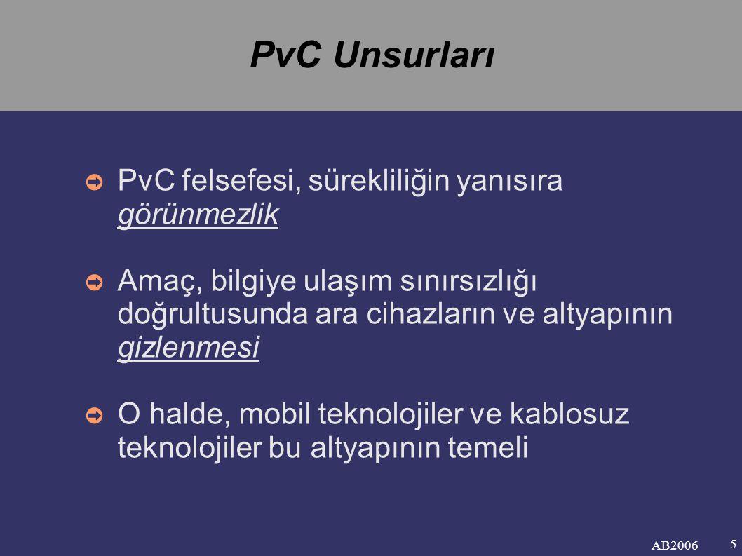PvC Unsurları PvC felsefesi, sürekliliğin yanısıra görünmezlik