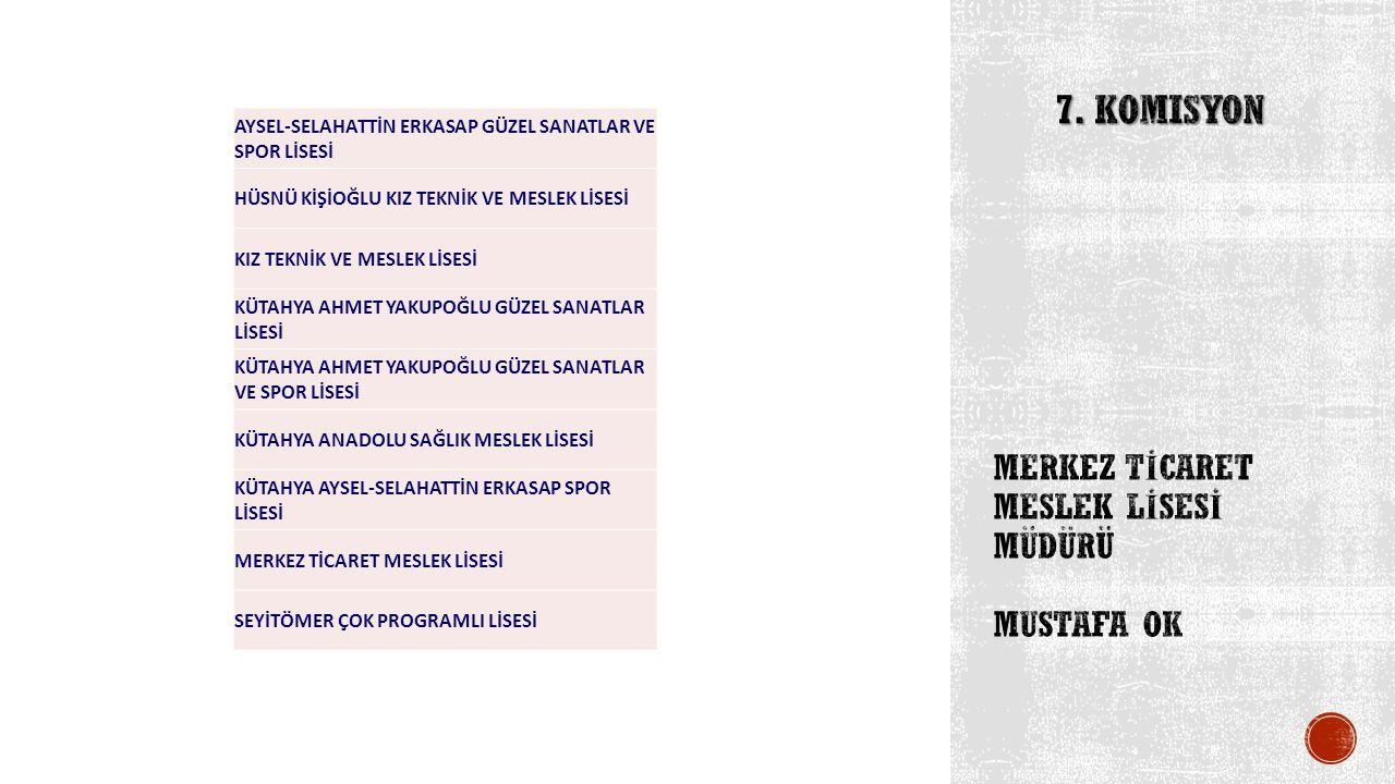 MERKEZ TİCARET MESLEK LİSESİ müdürü Mustafa ok