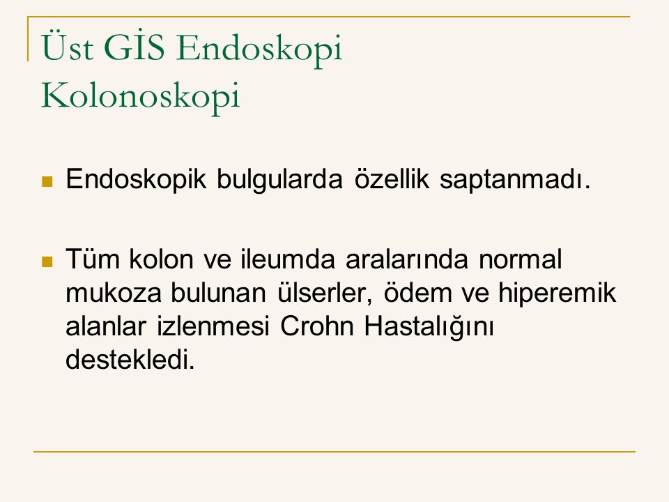 Üst GİS Endoskopi Kolonoskopi