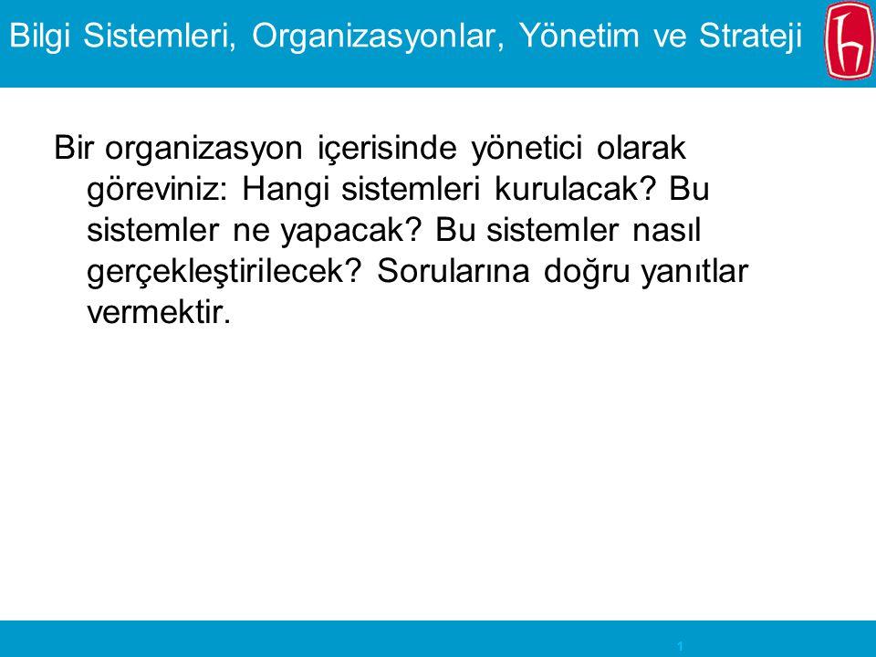Bilgi Sistemleri, Organizasyonlar, Yönetim ve Strateji