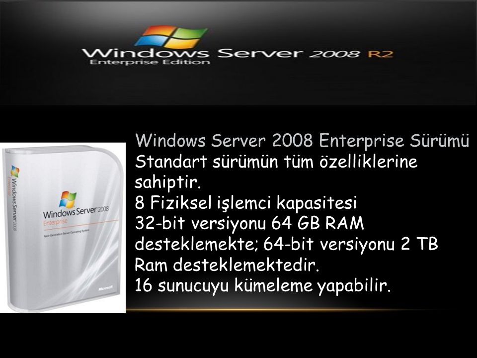 Windows Server 2008 Enterprise Sürümü